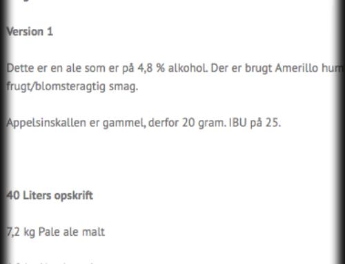 Opskrift på Belgisk ale 4,8%